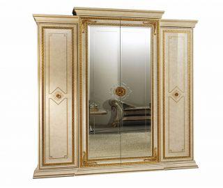 Arredoclassic Leonardo Italian 4 Door Small Wardrobe
