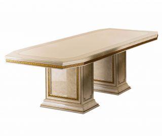 Arredoclassic Leonardo Italian Rectangular Fixed Top Dining Table