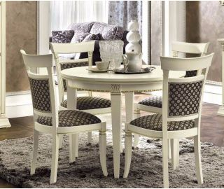 Camel Group Treviso White Ash Finish Round Extension Dining Table