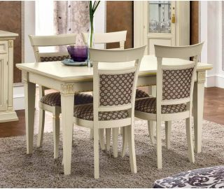 Camel Group Treviso White Ash Finish Rectangular Extension Dining Table