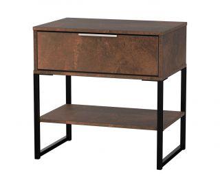 Welcome Furniture Diego Copper Finish Single 1 Drawer Midi Locker