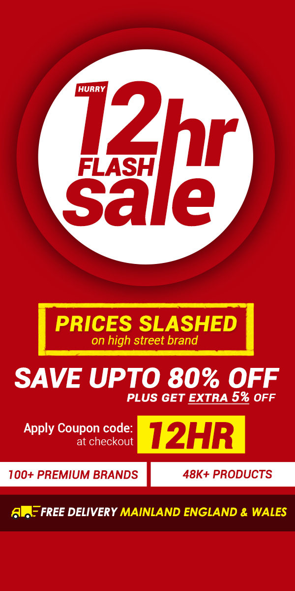 12HR Flash Sale Save Upto 80% Off + Get Extra 5% Off