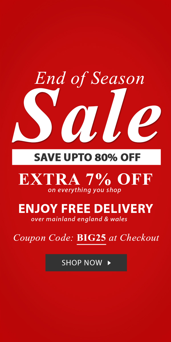 End Of Season Sale Save Upto 80% Off + Get Extra 7% Off