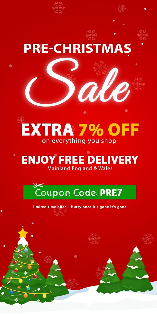Pre Christmas Sale Save Upto 80% Off + Get Extra 7% Off