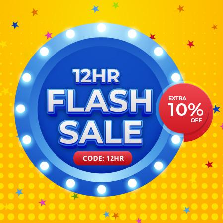 12HR Flash Sale Now On!