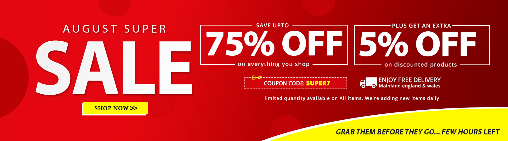 August Super Sale at Online Furniture Store