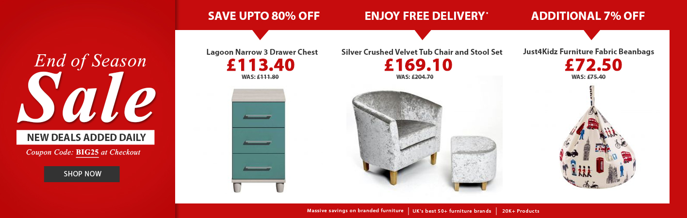 End Of Season Sale at Online Furniture Store