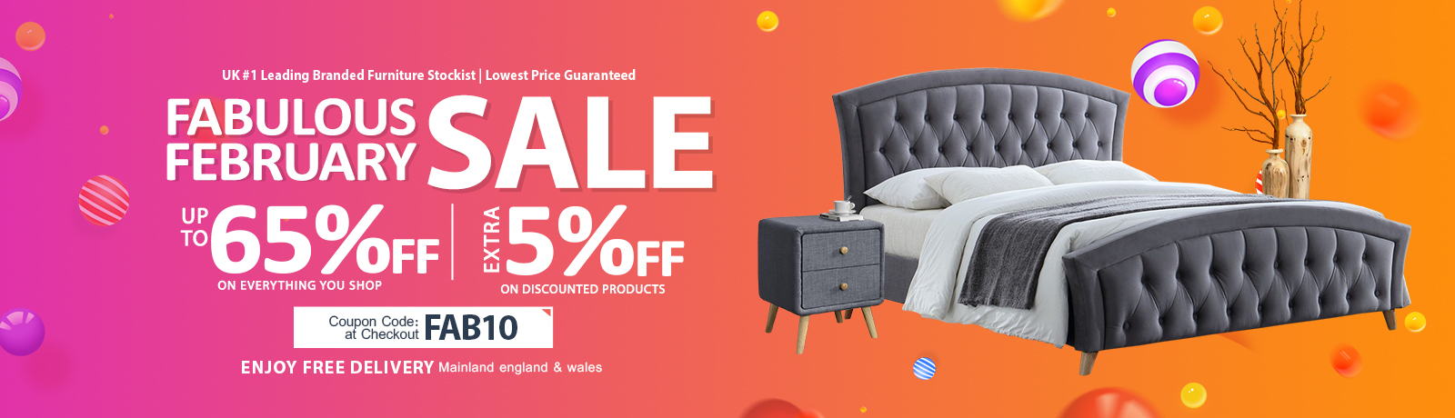 Fabulous February Sale at Online Furniture Store