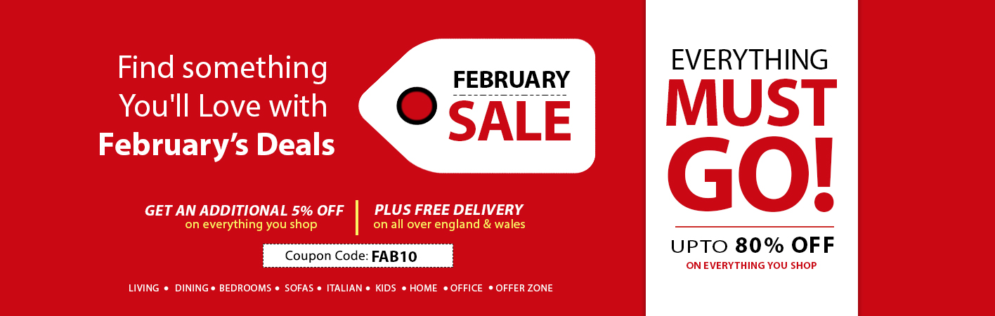 February Sale at Online Furniture Store UK