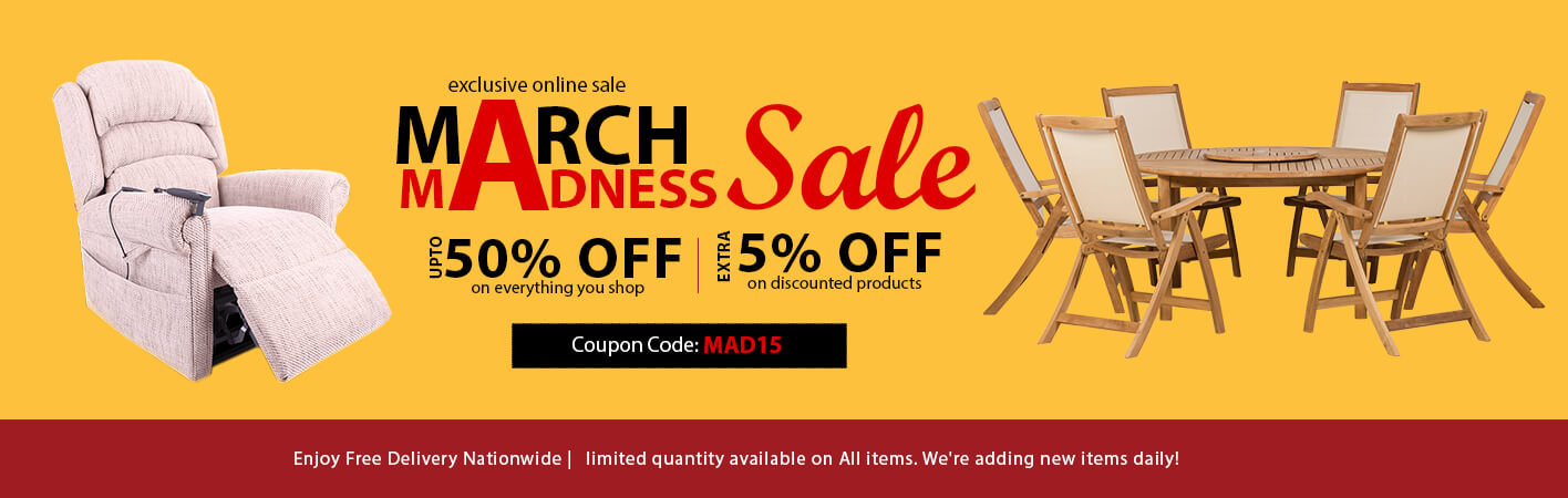 March Madness Sale at Online Furniture Store
