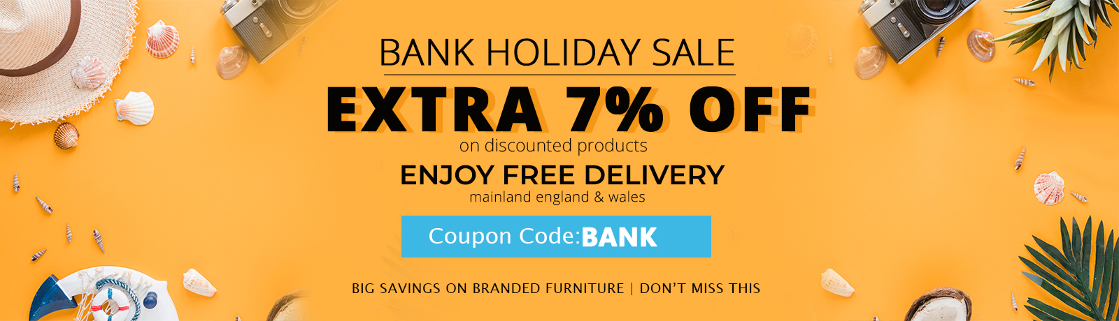 May Bank Holiday Sale at Online Furniture Store