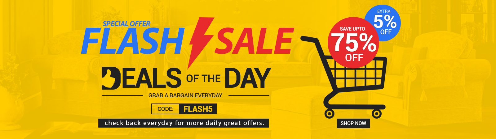 Flash Sale Deals of the Day at Online Furniture Store UK